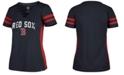 '47 Brand Women's Boston Red Sox Turnover V-Neck T-Shirt