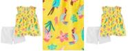 Carter's Baby Girls 2-Pc. Cotton Toucan-Print Top & Shorts Set