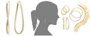 Macy's Figure 8 Hoop Earrings in 14k Gold Vermeil, 60mm