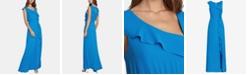 BCBGMAXAZRIA Asymmetrical-Ruffle Column Dress