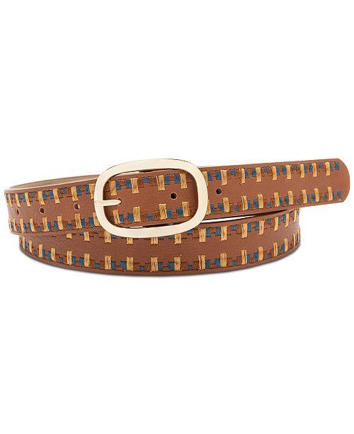 INC International Concepts I.N.C. Laced Edge Belt, Created for Macy's