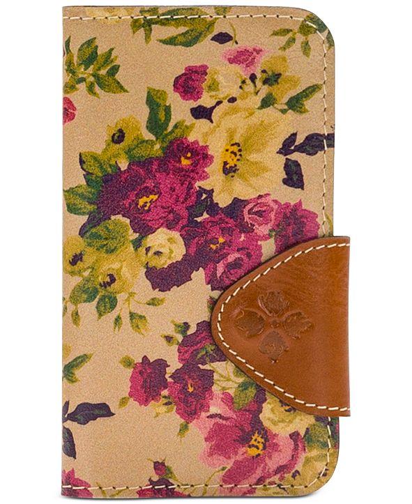 Patricia Nash Antique Rose Brenna Leather Phone Case