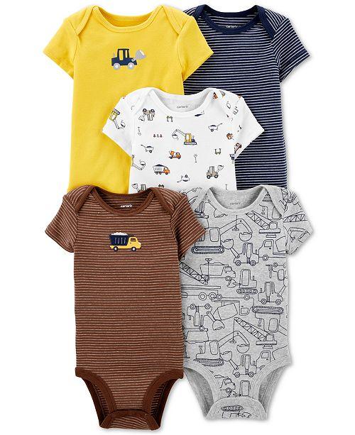 Carter's Baby Boys 5-Pc Graphic Cotton Bodysuits