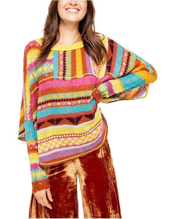 Free People December Skies Poncho Sweater