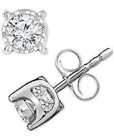TruMiracle® Diamond Stud Earrings (1/2 ct. t.w.)