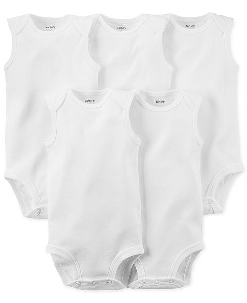 Carter's Baby Boys & Baby Girls 5-Pack Sleeveless Bodysuits